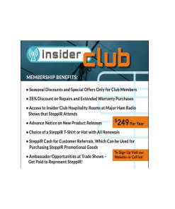 Insider Club SteppIR